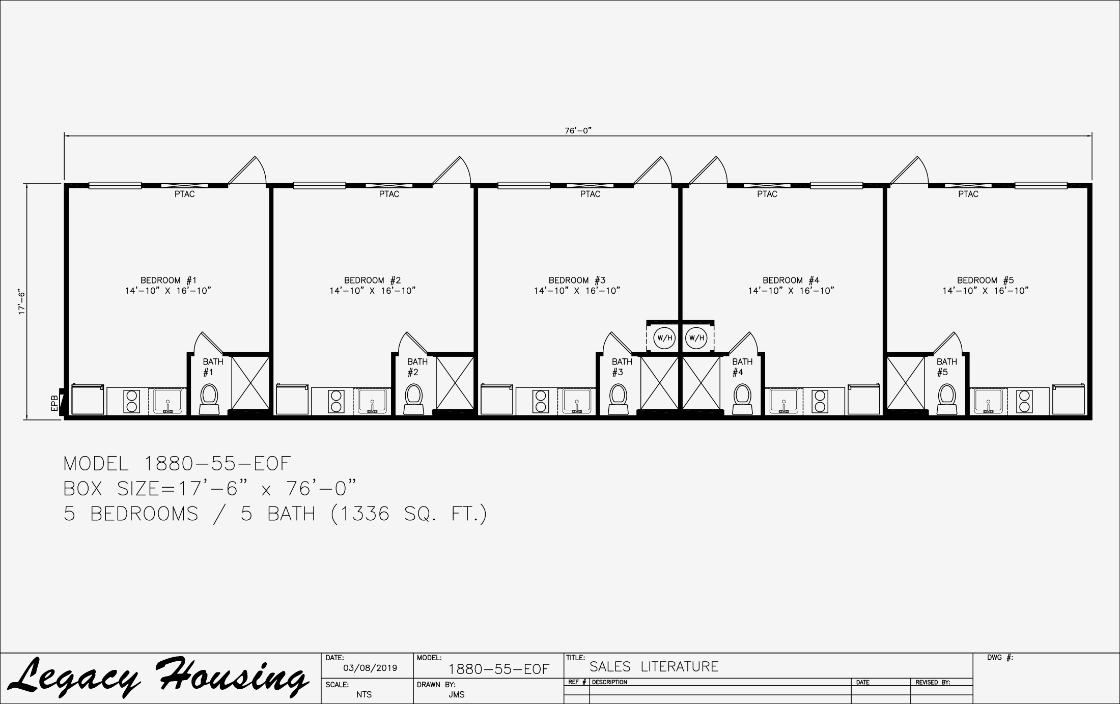 18x80 Oilfield Housing - 5 Bedroom